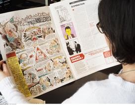 """Những bản vẽ châm biếm của tạp chí Charlie Hebdo được """"săn lùng"""""""