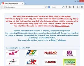 Thêm 7 websites bị dừng hoạt động