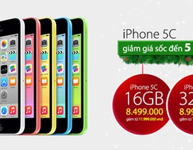 iPhone 5C chính hãng bất ngờ giảm giá đến 5 triệu đồng