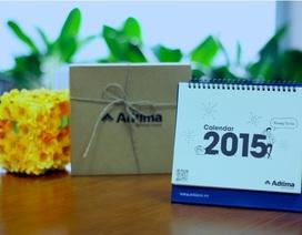 Độc đáo bộ lịch 2015 vẽ theo cảm xúc 12 tháng của dân văn phòng