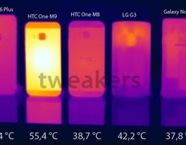 HTC One M9 tăng nhiệt, nóng hơn iPhone 6 Plus, Galaxy Note 4