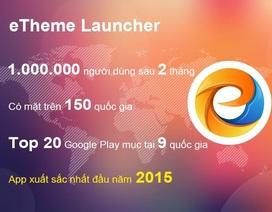 Ứng dụng Việt eTheme Launcher đạt 1 triệu người dùng quốc tế