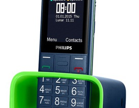 Philips Xenium E311 cho thời gian đàm thoại liên tục tới 23 giờ