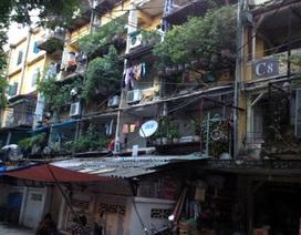 Hà Nội: Di dời gấp dân ở chung cư C8 Giảng Võ