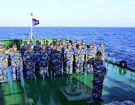 Hình ảnh Cảnh sát biển làm nhiệm vụ ở Hoàng Sa