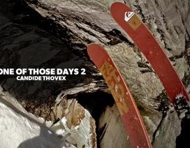 """""""Chóng mặt"""" với vận động viên trượt tuyết mạo hiểm"""