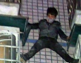 """""""Người nhện"""" xuất hiện tại Trung Quốc trong vai...kẻ trộm"""