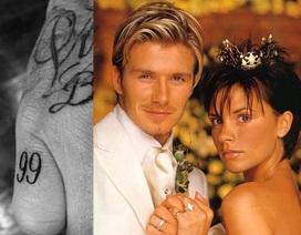 """David Beckham khéo khoe hình xăm mới """"nịnh vợ"""""""