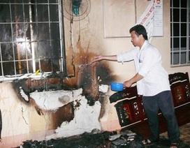 Cháy trụ sở UBND xã