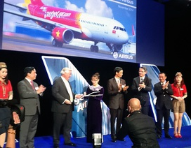 Vietjet nhận chiếc A320 đầu tiên trong hợp đồng 100 tàu bay với Airbus