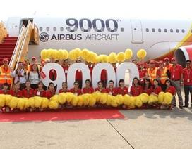 Chiếc máy bay A321 thứ 9.000 của Airbus thuộc về Vietjet