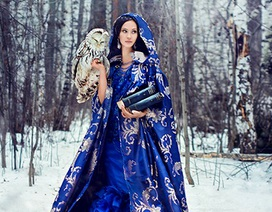 Đẹp mê hồn bộ ảnh thiếu nữ Nga khoe sắc trong tuyết trắng