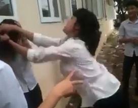 Xuất hiện thêm clip nữ sinh cấp 2 đánh bạn ngay trong trường