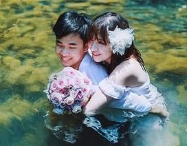 """Ảnh cưới """"mát rượi"""" mùa hè của cặp đôi Việt kiều"""