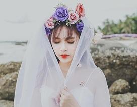 """""""Hot girl"""" Hà Min tung ảnh cưới đẹp lung linh trên đất Thái Lan"""
