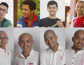 5 chàng trai cạo đầu ủng hộ bệnh nhân ung thư vú