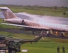 Philippines: Máy bay tháp tùng Giáo hoàng lao khỏi đường băng