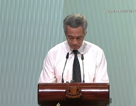 Thủ tướng Singapore Lý Hiển Long xúc động tại lễ tang cha