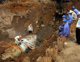 Nước sạch sông Đà về Hà Nội: Giữa năm 2016 mới có đường ống số 2