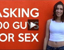 """Cô gái ngẫu nhiên đề nghị 100 đàn ông """"lên giường"""" - bao nhiêu ông đồng ý?"""