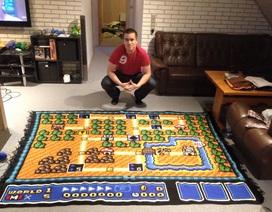 Fan cuồng dành 7 năm móc thảm hình nền game Mario
