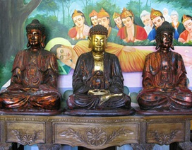 """6 tượng Phật niên đại trăm năm """"không cánh mà bay"""""""