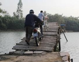 Qua cầu tạm, một người đàn ông tử vong