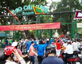 Hàng vạn người đổ về Khu tưởng niệm các Vua Hùng