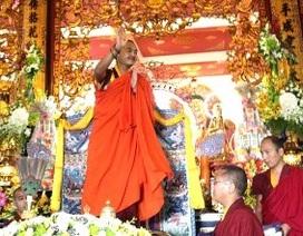 Nhiếp chính vương Gyalwa Dokhampa thăm chùa Vĩnh Nghiêm
