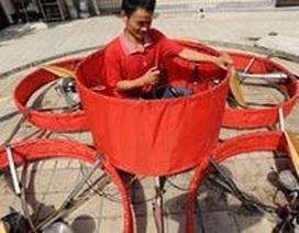 Nông dân tự chế tạo thành công… đĩa bay