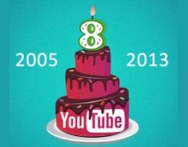Youtube tròn 8 tuổi và những con số ấn tượng