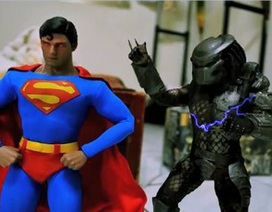 """Clip siêu nhân """"đại chiến"""" người ngoài hành tinh bằng kỹ thuật stop-motion"""