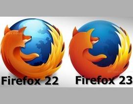 Firefox 23 chính thức trình làng với logo và tính năng mới