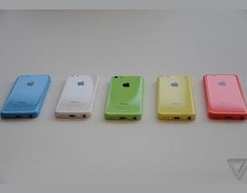 Ảnh thực tế iPhone 5C với lớp vỏ nhựa nhiều màu sắc