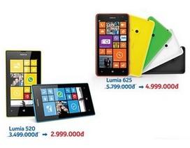 Nokia bất ngờ giảm giá bộ đôi Lumia 625 và Lumia 520