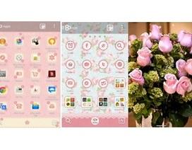 Trang hoàng smartphone mừng ngày 8/3 bằng giao diện đẹp mắt