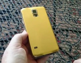Lộ clip thực tế phiên bản Galaxy S5 vỏ nhôm