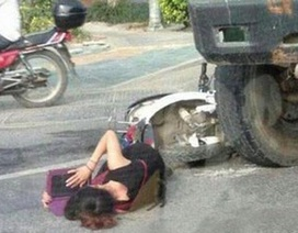 Nữ sinh vẫn học bài dù mắc kẹt dưới bánh xe tải sau tai nạn