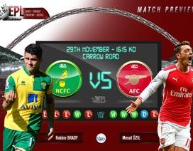 Norwich - Arsenal: Tiếp đà hồi sinh
