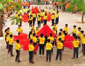 Ấn tượng đậm nét ngày khai mạc Hội khỏe Phù Đổng tại trường tiểu học Trung Tự