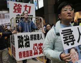 Người Hong Kong biểu tình phản đối 5 nhân viên nhà sách mất tích bí ẩn