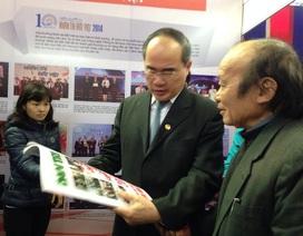 Chủ tịch Mặt trận Tổ quốc Việt Nam thăm Hội báo xuân Ất Mùi