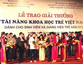 Trao Giải thưởng Tài năng khoa học trẻ  Việt Nam