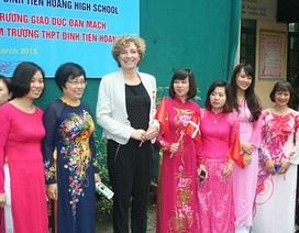 Bộ trưởng Giáo dục Đan Mạch thăm ngôi trường đặc biệt ở Hà Nội