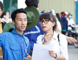 Những hình ảnh đẹp sinh viên tình nguyện tiếp sức mùa thi 2015
