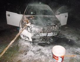 Đang đậu xe, xế hộp bất ngờ phát hỏa cháy dữ dội
