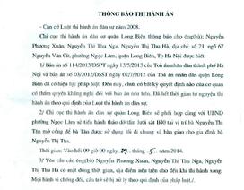 Lùm xum việc tranh chấp lối đi, Chi cục thi hành án quận Long Biên bị khiếu nại