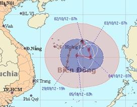 Áp thấp nhiệt đới mạnh thành bão tiến sâu vào biển Đông
