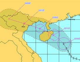 Bão số 5 áp sát ven biển Quảng Ninh- Nam Định - Hải Phòng