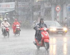Toàn quốc mưa, giông những ngày tới